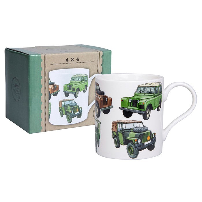 Mens Classic Boxed Landrover Mug | GORGEOUS GEORGE