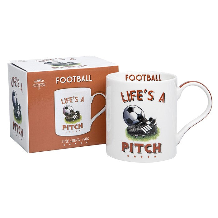 Life's a Pitch Football Sports Mug | GORGEOUS GEORGE