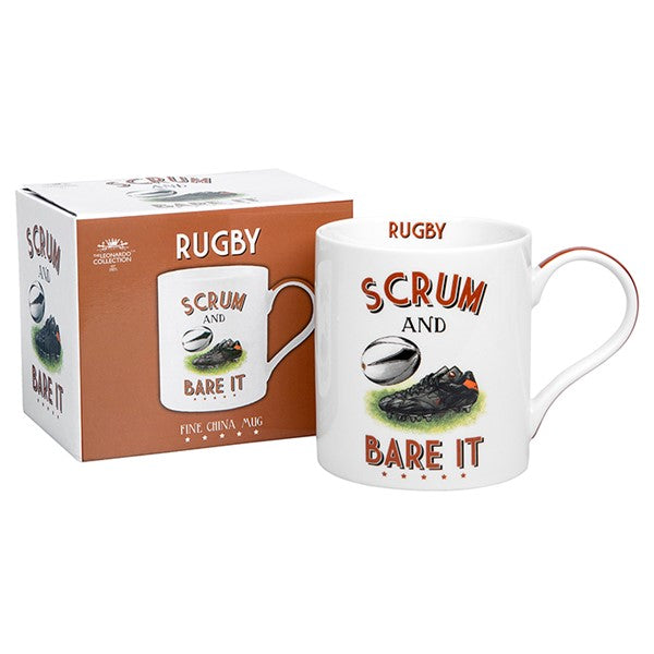 Scrum & Bare It Rugby Sports Mug | GORGEOUS GEORGE