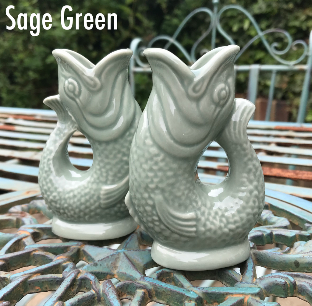 Sage Green Gluggle Jug | GORGEOUS GEORGE