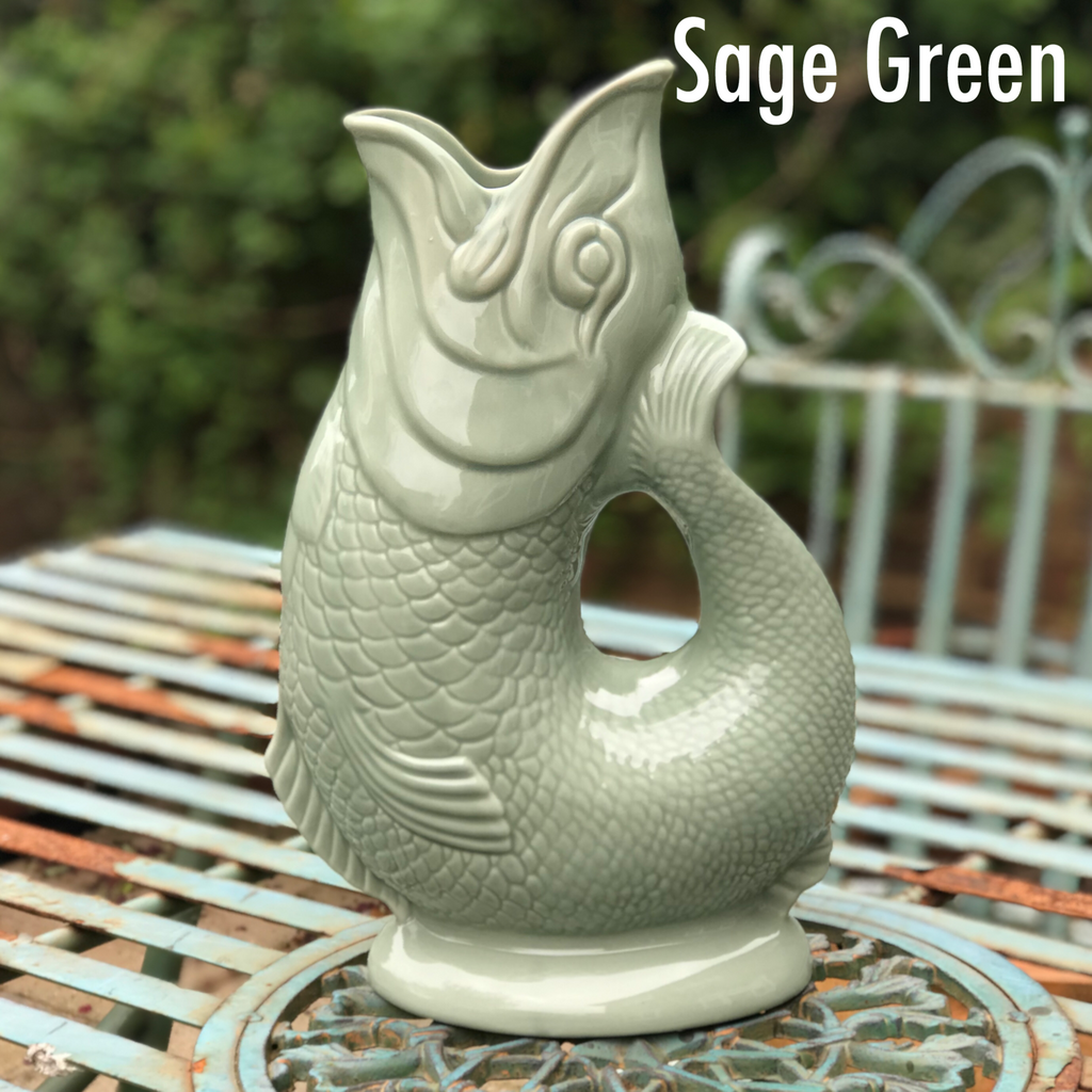 Sage Green Gluggle Jug XL - GORGEOUS GEORGE