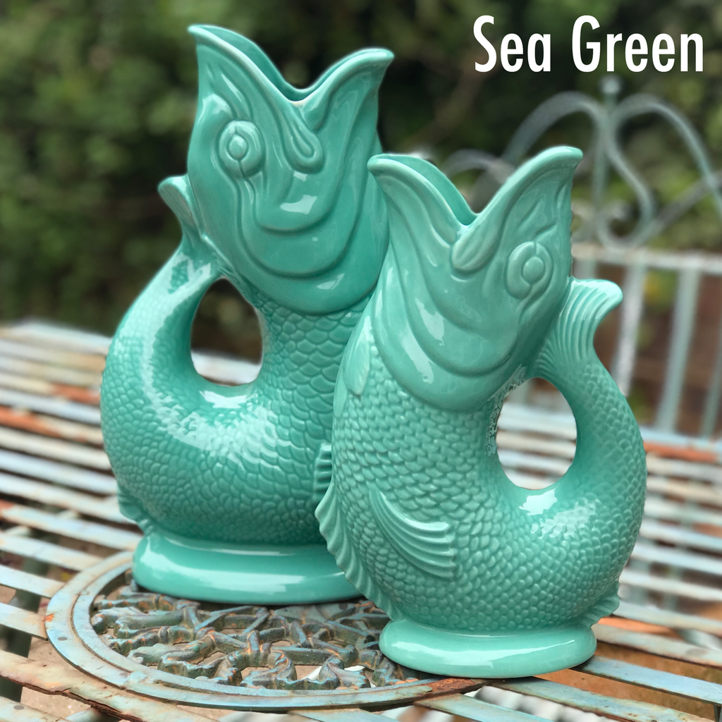 Sea Green Gluggle Jug XL - GORGEOUS GEORGE