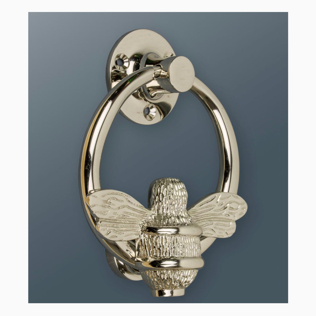 Bumble Bee Door Knocker Ring-Nickel/Chrome Finish