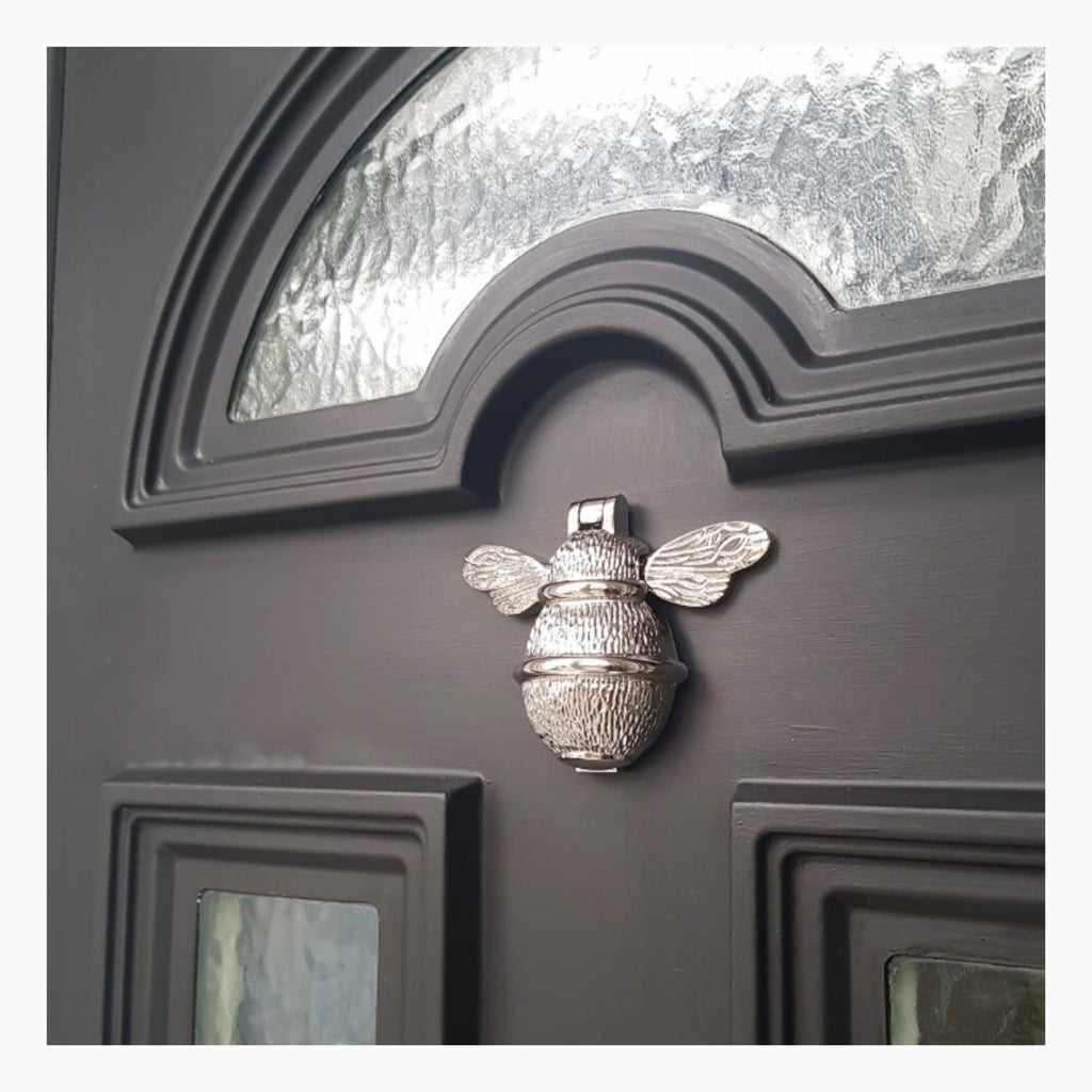 Bumble Bee Door Knocker-Nickel/Chrome Finish