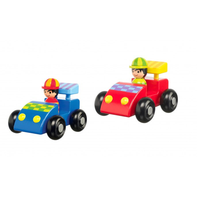 Wooden Racing Car Set of Two | GORGEOUS GEORGE