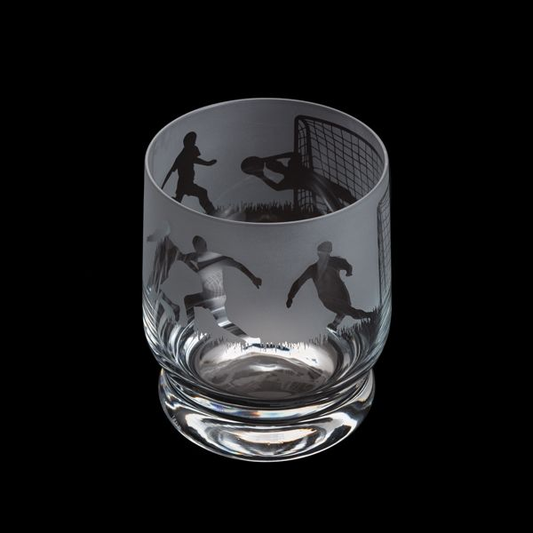 Dartington Crystal Aspect Football Tumbler | GORGEOUS GEORGE