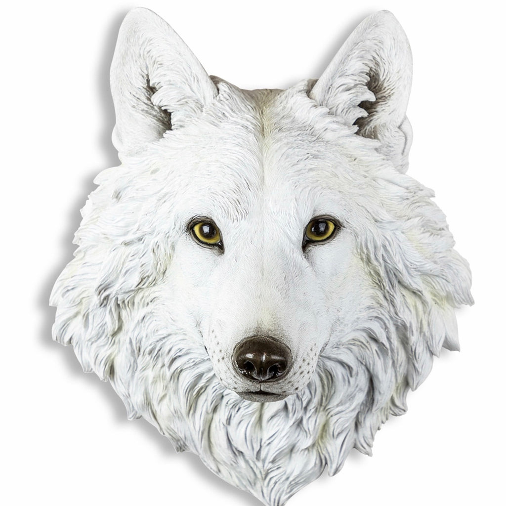 Snow Spirit White Wolf Wall Plaque | GORGEOUS GEORGE
