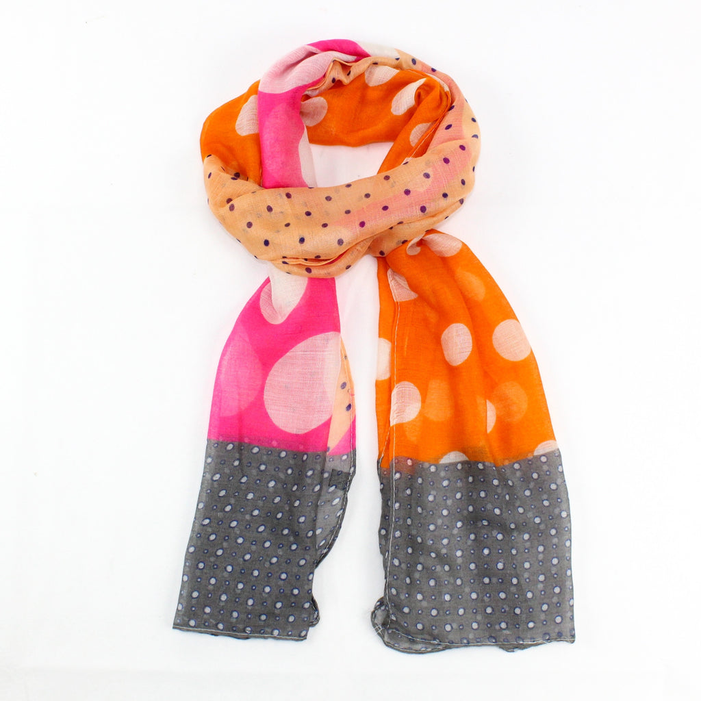 Colourful Spotted Scarf | GORGEOUS GEORGE
