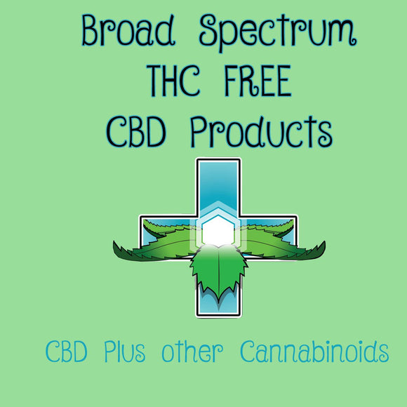 Broad Spectrum Products (CBD plus other Cannabinoids but with NO THC)
