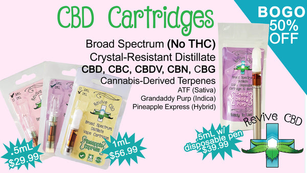 Revive CBD in Littleton, CO has the best broad spectrum cartridges!