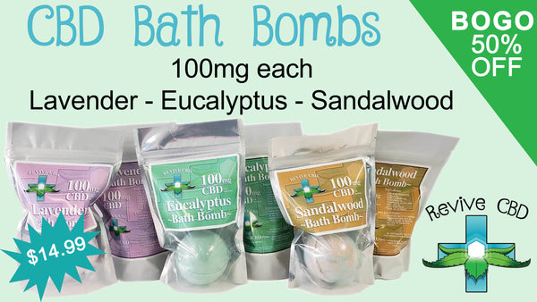 Revive CBD in Littleton, CO and online has awesome Full Spectrum CBD Bath Bombs! BEST CBD Deals BOGO 50% OFF Everyday!