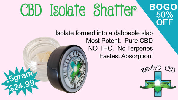 Revive CBD in Littleton, CO isolate CBD shatter concentrates