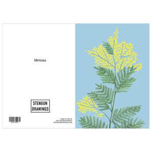 Mimosa - Blue/Yellow