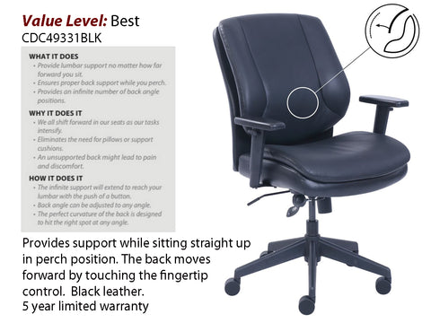 # 14 Best Executive Task Chair Mid Back w/ Black Frame