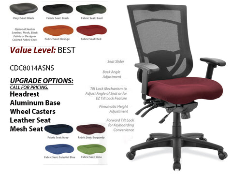 # 1 Best Task Chair Mesh High Back w/ Adj. Arms and Black Base
