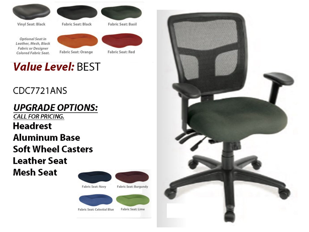 # 5 Best Task Chair Cool Mesh Synchro, Multi-functional Mid Back w/ Black Frame