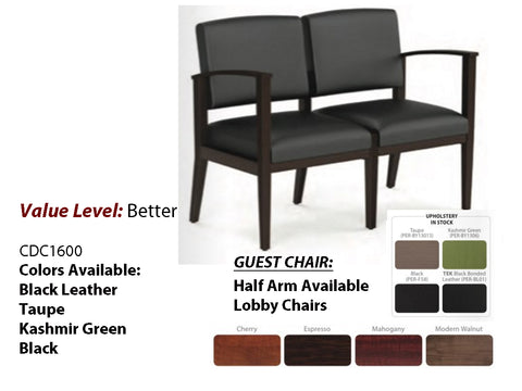 #2 Better Guest Designer Chair-Double with Half Arm
