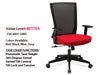 # 1 Better Task Chair Executive Mesh Back w/Arms and Black Base