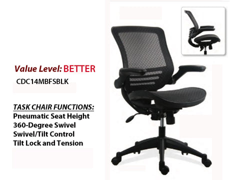 # 12 Better Task Chair All Mesh w/Arms and Black Base