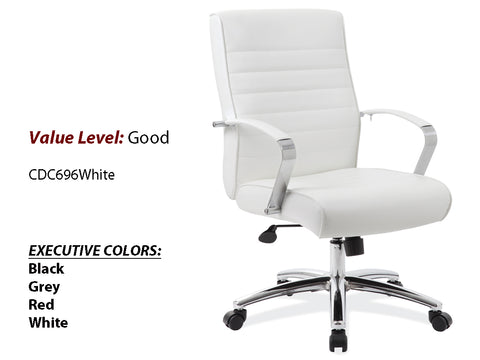 #11 Good Executive High Back Chair White