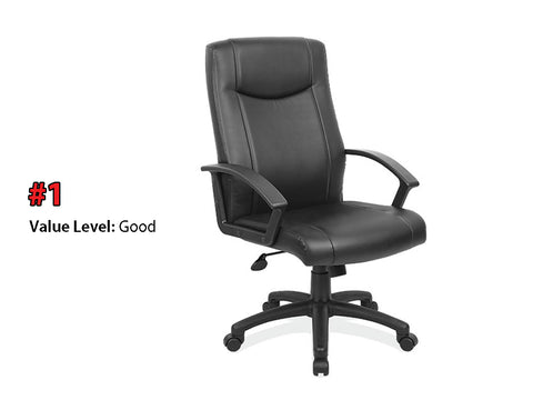 #1 Good Quality: Executive High Back Chair