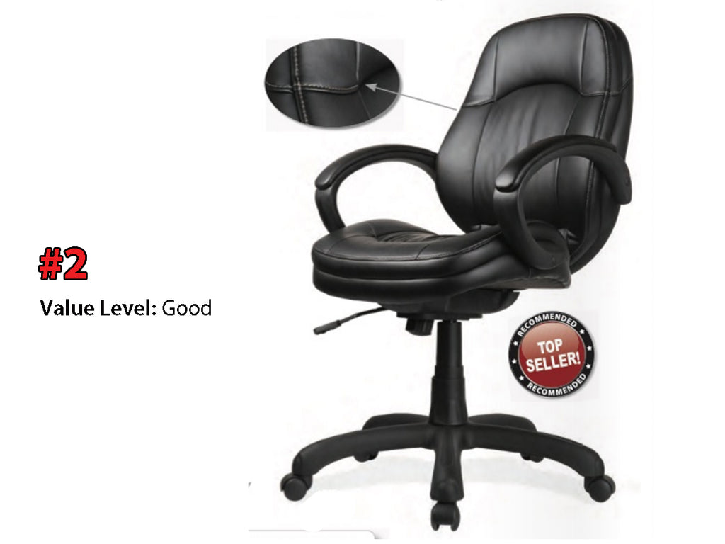 #2 Good Quality: Executive Mid Back w/Black Frame