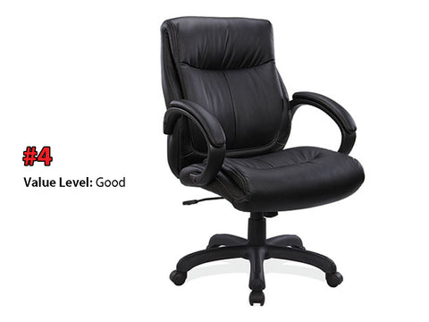 #4 Good Quality: Executive Mid Back w/Black Frame