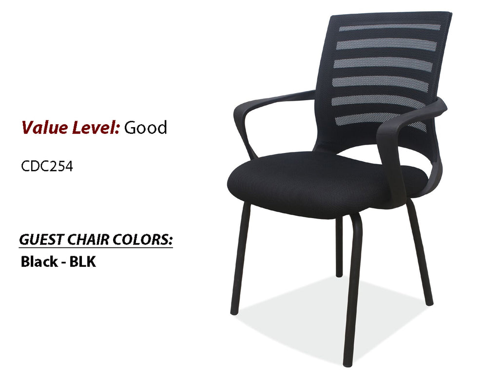 #22 Good Guest/Side Chair w/Arms and Black Frame