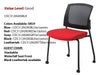 #11 Guest Chair Mesh Back Armless with Castors