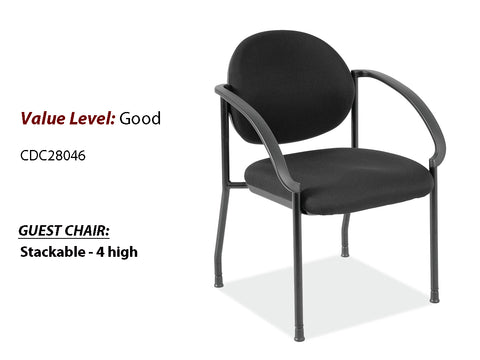 #18 Good Guest/Side Chair w/Arms and Black Frame
