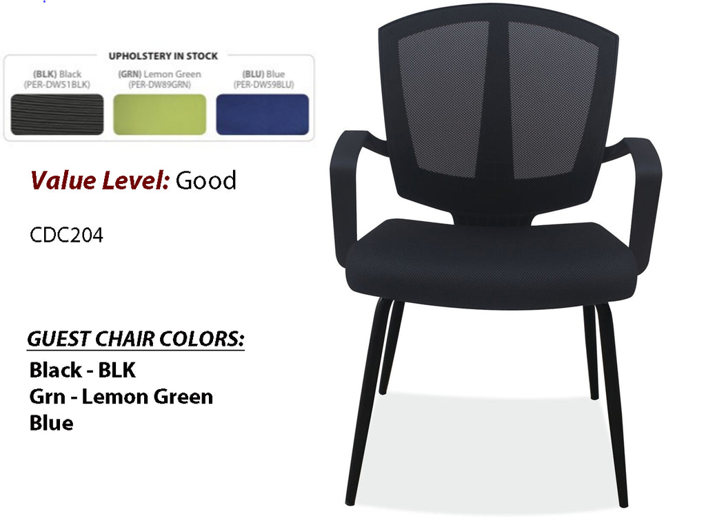 #21 Good Guest/Side Chair w/Arms and Black Frame