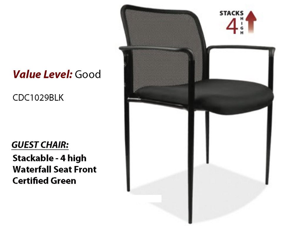 #3 Good Guest Side Chair w/Black Frame