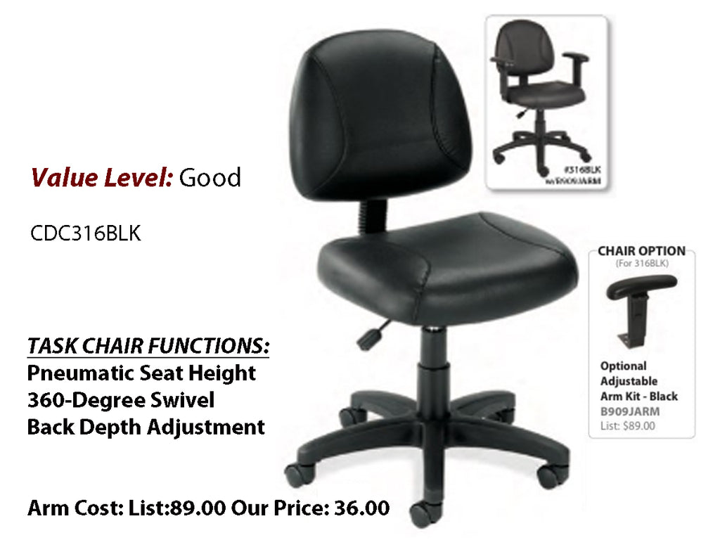 #10 Good Task Posture Chair, Leather without Arms