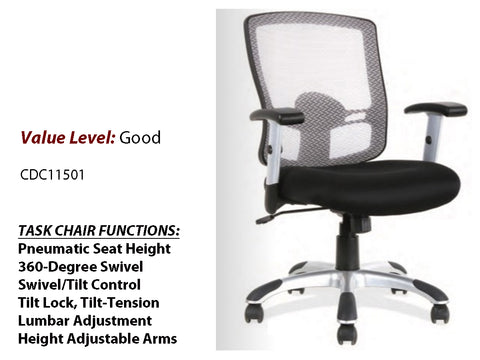 #7 Good Basic Task Chair w/ Painted Nylon Base & Arms