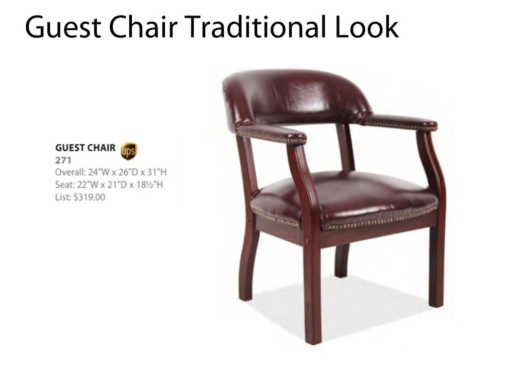 Traditional Guest Chair Round Back