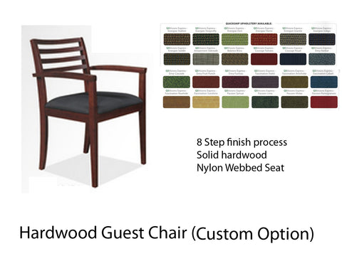 Hardwood Guest Chair (Custom Fabric)