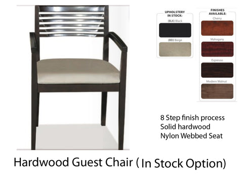 Hardwood Guest Chair Signature Style (in stock fabric)