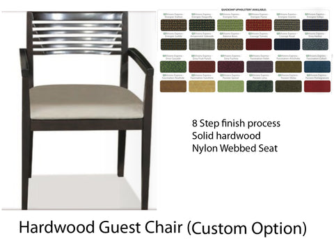 Hardwood Guest Chair Signature Style (Custom Fabric)