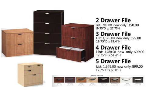 Laminate Lateral File Cabinets