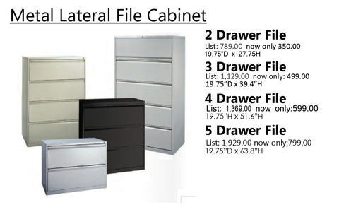 Metal Lateral Files (in stock)