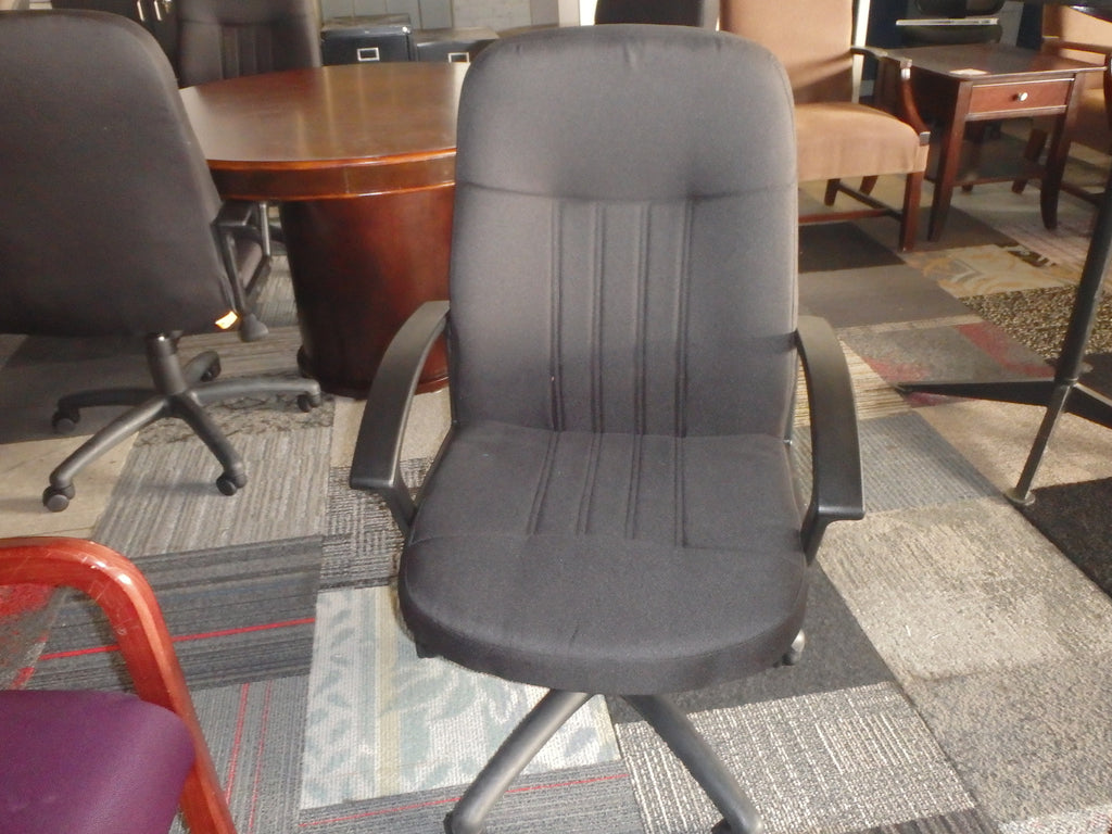 CONTEMPORARY HIGH BACK CLOTH OFFICE CHAIR