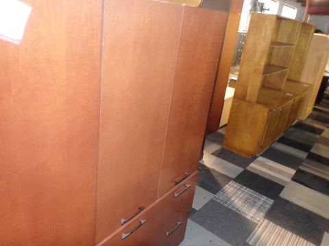 CONTEMPORARY 2 DRAWER FILE WITH DOOR CABINET