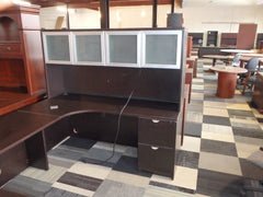 U-SHAPE WORK STATION DESK WITH PRIVACY SCREEN