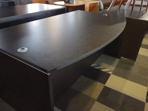 BOW FRONT DESK WITH 2 HBF EXPRESSO