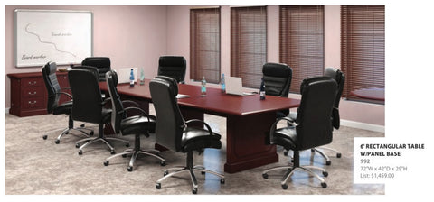 Conference Table - Traditional Solid Mahogany Wood