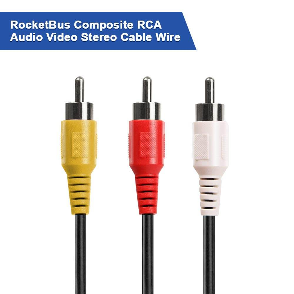 RCA Composite Cable for TV DVD VCR  Game Console