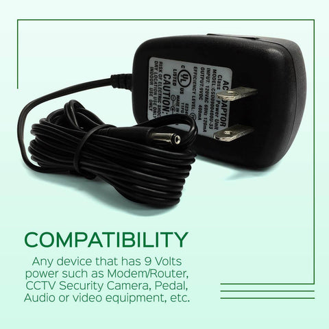 Image of AC Power Supply Adapter 9V Output DC 400mA