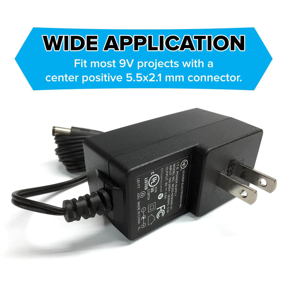 AC Power Supply Adapter Charger Output 9V DC 0.6A