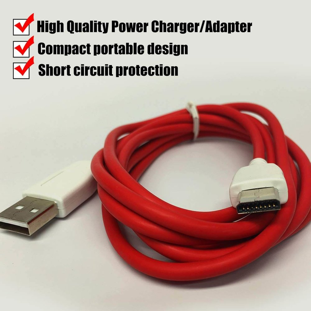 USB Cable Charger for Fuhu, Nabi, Elev-8 Tablet