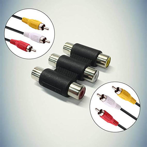 Image of Female RCA to Female RCA Composite A/V Gender Changer Coupler